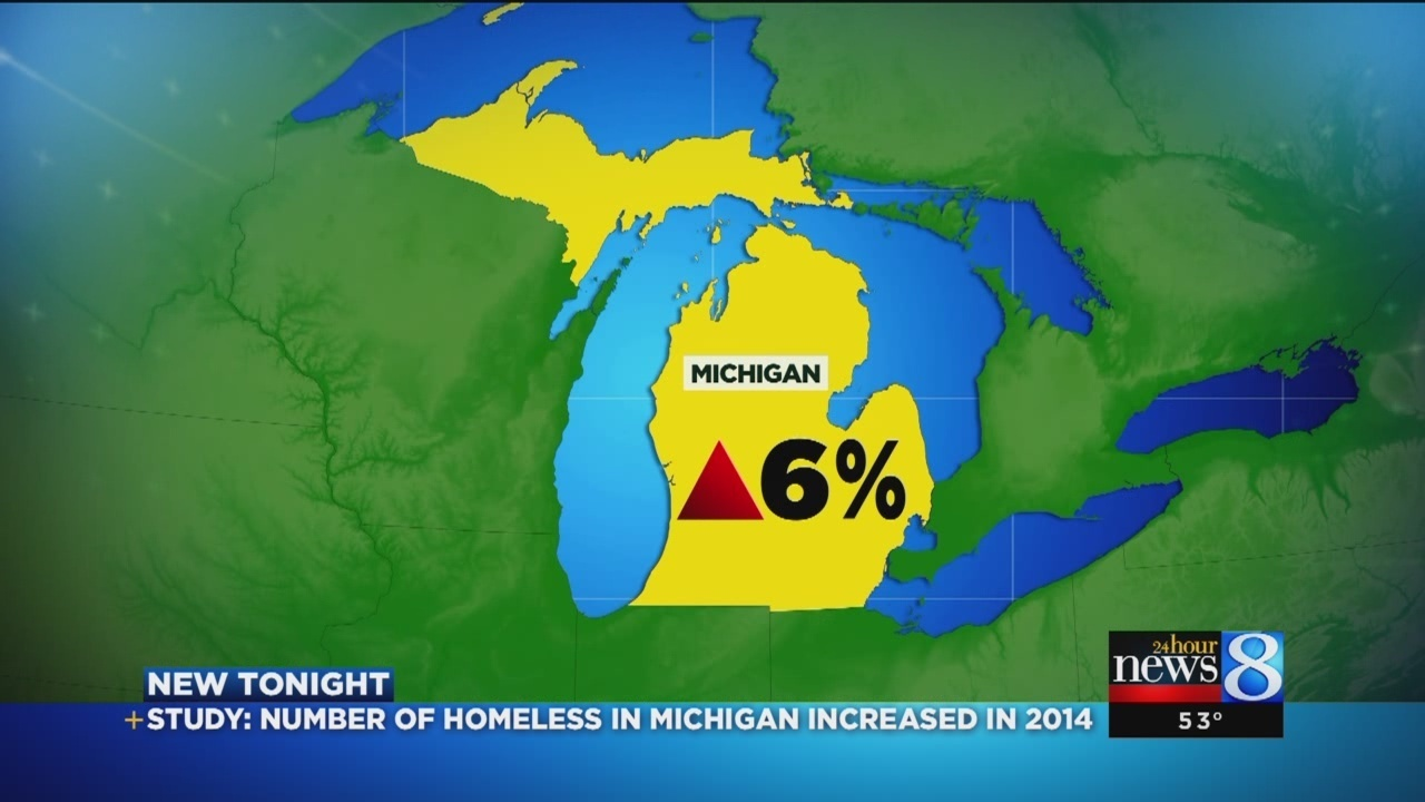Report: Homelessness up in Michigan