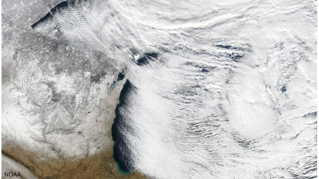 Arctic air, lake-effect snow continues to grip West Michigan