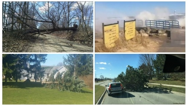 Video and photos: March wind damage across West Michigan