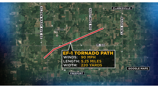 Nws Confirms Ef 1 Tornado Hit Kent Ionia Counties