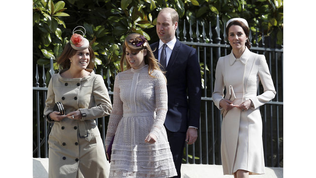 NOT SIZED Britian Royals Easter 041617 AP_322444