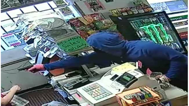 Authorities searching for suspect in armed robbery