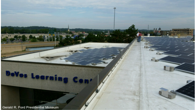 Gerald R. Ford Presidential Museum solar panels 081717_387214