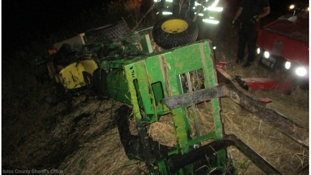 Deputies: Man, 59, killed in Ionia Co. tractor accident