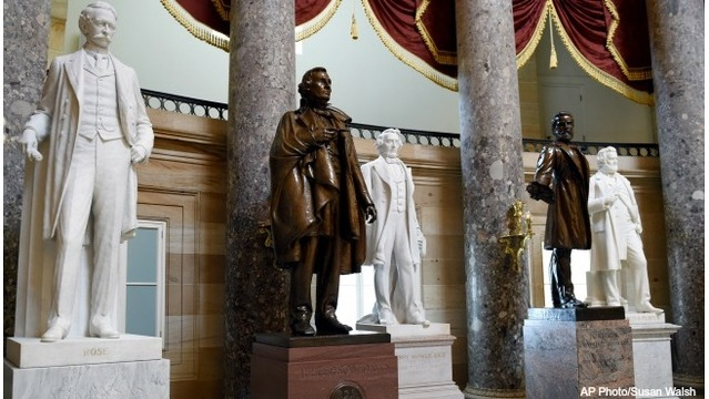 Lawmakers want to banish Confederate statues from US Capitol