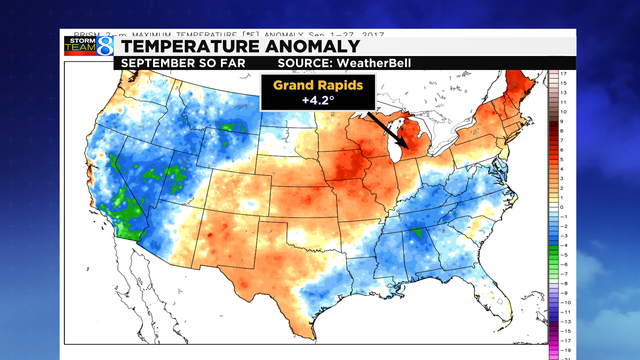 Recent warm temps across Michigan delaying fall colors WOODTV