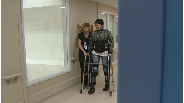 Robot exoskeleton gets patients back on their feet