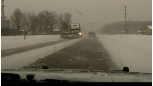 Crash video gives lesson on staying safe on winter roads