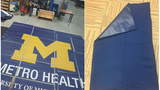Metro Health turning banners into blankets