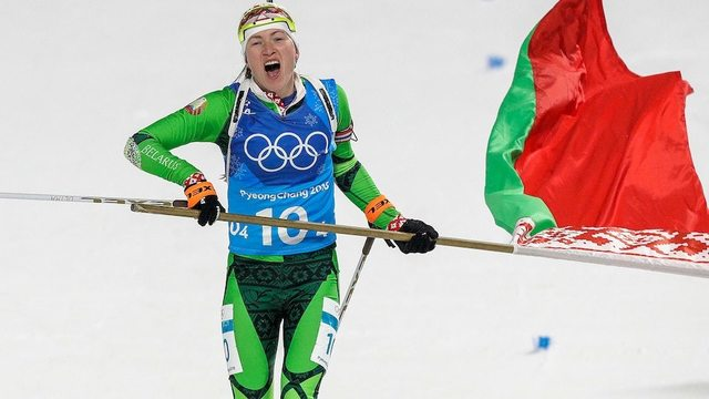 Domracheva becomes first female biathlete to win six Olympic gold medals