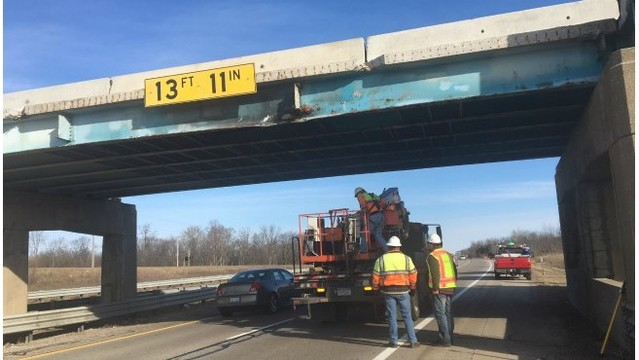 100th St. overpass hit again; 4th time this year