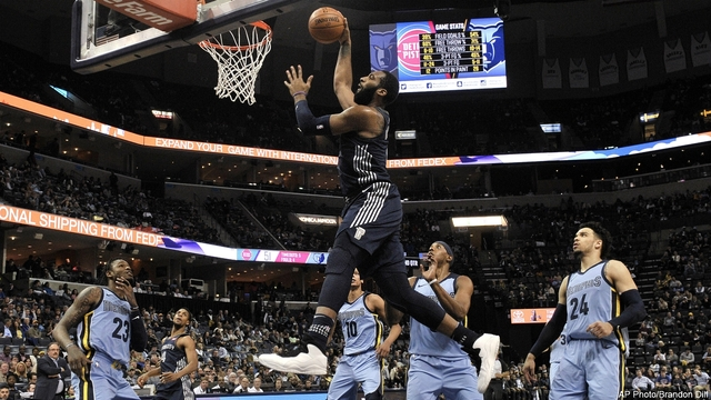 Grizzlies unleash offense to slay Pistons