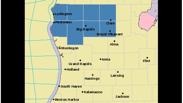 Winter Storm Watch for parts of W MI