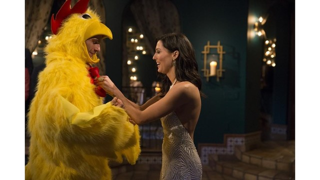 'The Bachelorette' premieres with a proposal, a chicken suit and a full choir