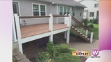 Enjoy a summer outside  with a great deck space