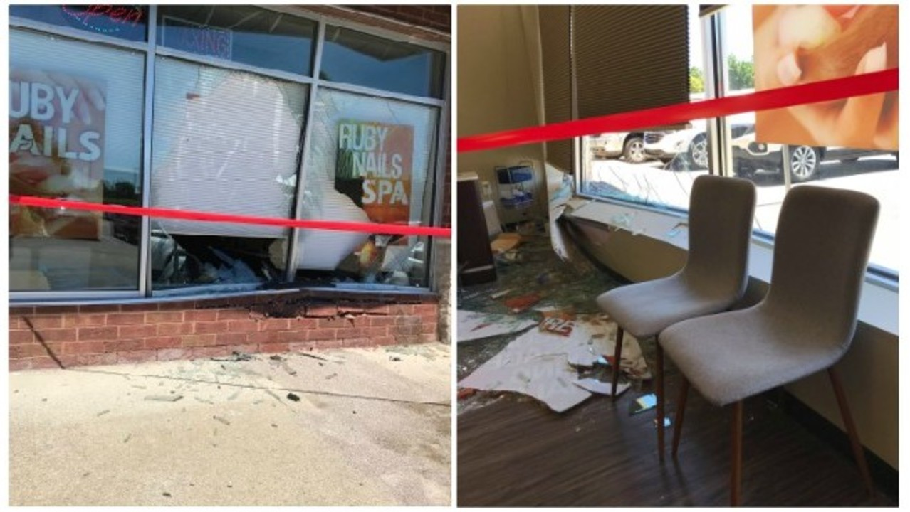 Vehicle Smashes Into Grandville Storefront