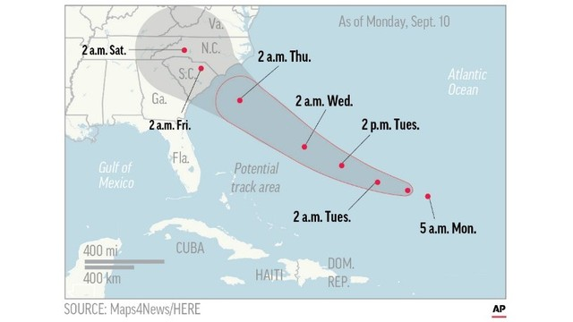 Florence Now A Major Hurricane Aims For Us Southeast