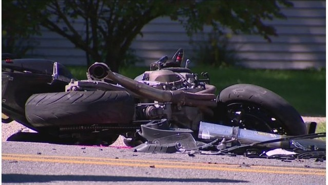 3 hospitalized after crash involving motorcycle in Kent Co.