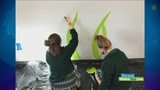 Local school paints mural at Wedgwood Autism Center