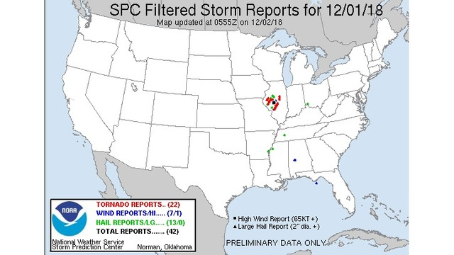 Tornadoes hit Central Illinois