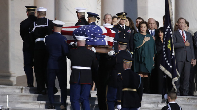 President George HW Bush lies in state 120318 Getty_1543892139146