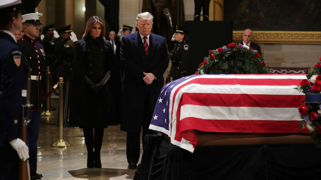 President George HW Bush lies in state 120318 Getty.jpg_1543892168814