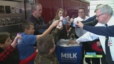 Maranda celebrates National Milk Day with the Walker Fire Department