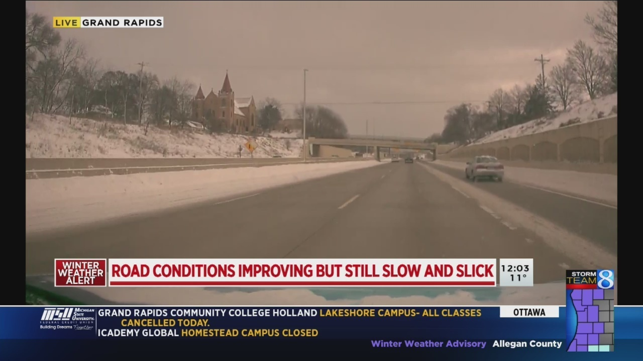 Snow, icy roads impact Friday commute