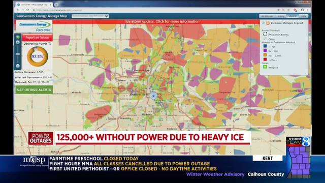 More than 135K without power after round 2 of freezing rain