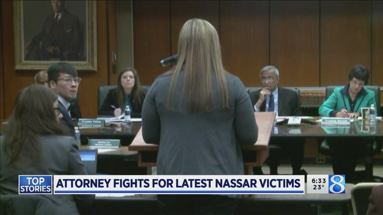 Attorneys fight for latest Nassar victims