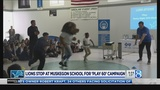 Detroit Lions bring Play 60 to Muskegon Co. school