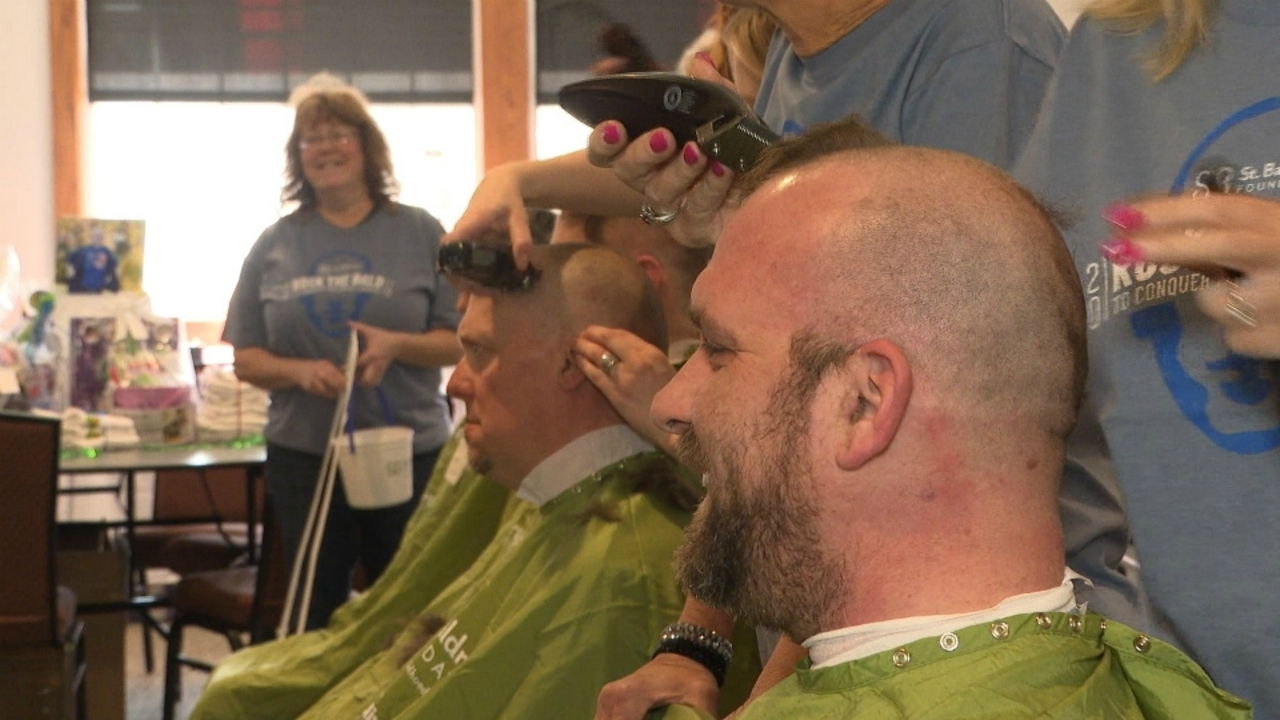 Shaved heads benefit pediatric cancer research