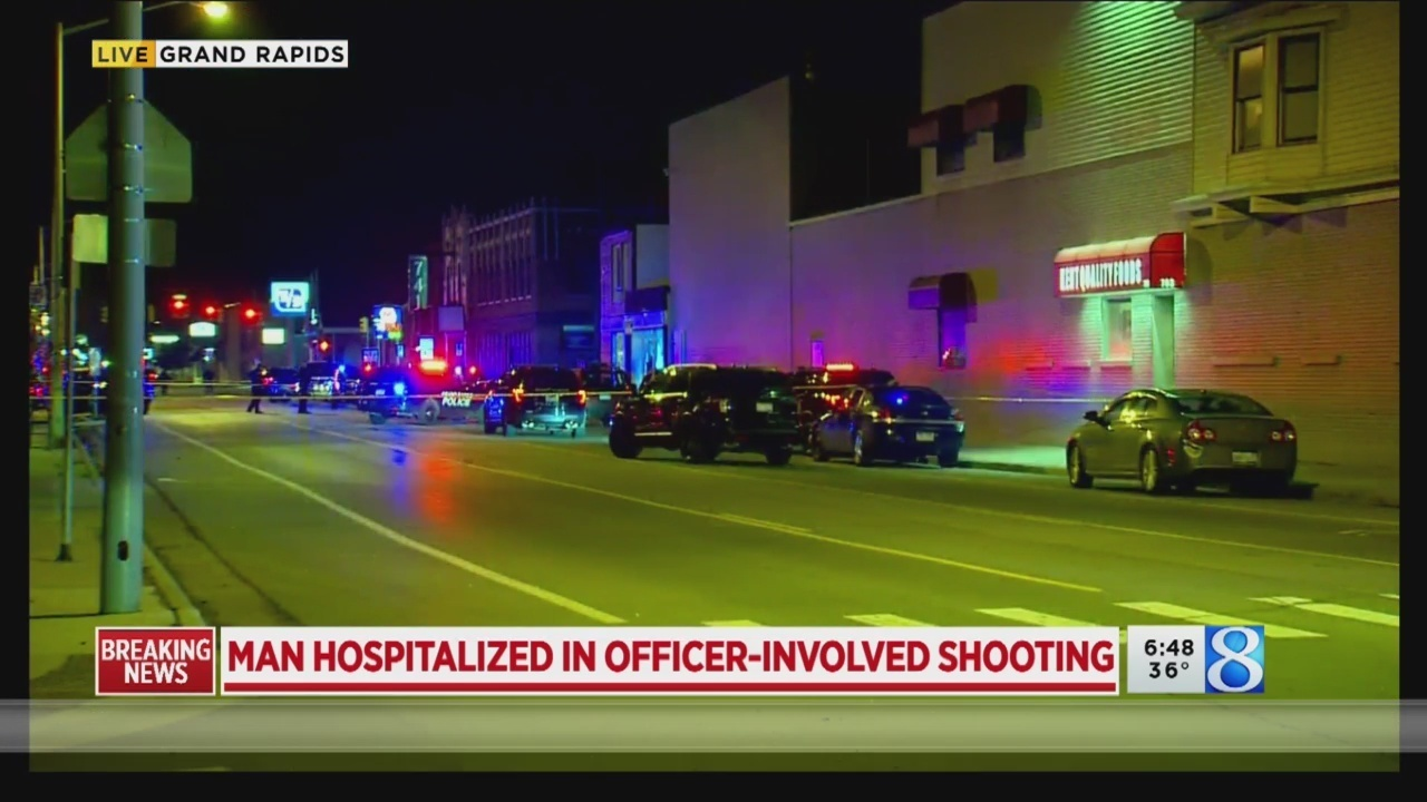 Man shot in officer-involved shooting in Grand Rapids