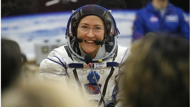 A native of GR will spend 11 months in space, setting a women's record