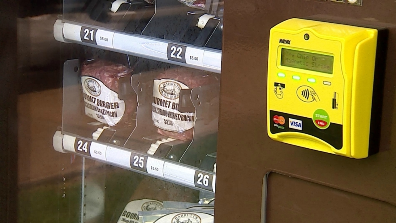 Meat vending machine installed near Kalamazoo