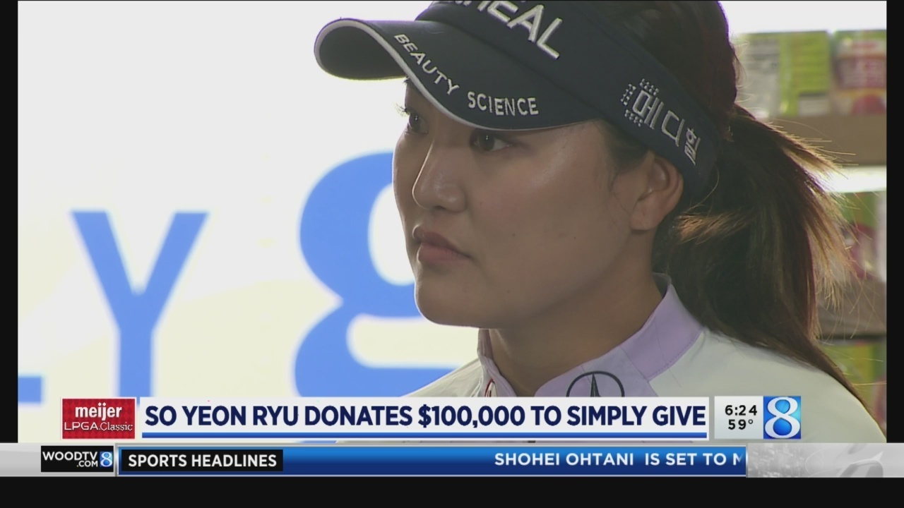 Meijer Classic champ donates $100K to Simply Give
