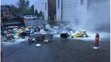 Chemical reaction fire at GR recycling center