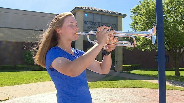 New Marine honors veterans with taps on Memorial Day